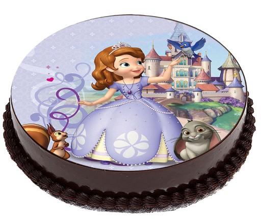 Opłatek Na Tort Księżniczka Zosia Princess 16cm 7358478376 Allegro