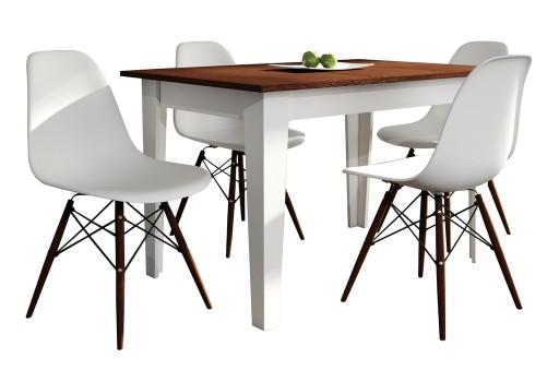 Stół Kuchenny 80x120165 Z 4 Krzesłami
