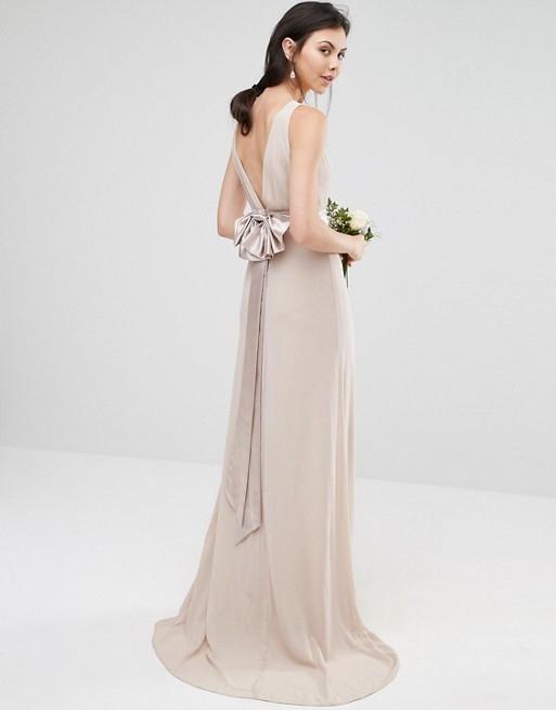 B85 TFNC TALL lawendowa sukienka kokarda MAXI 40 9824392287 Odzież Damska Sukienki wieczorowe BV SAPKBV-4