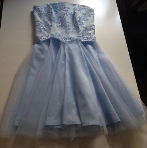 wesele FEEMA błękitna niebieska sukienka tiul XS/S 8142896778 Odzież Damska Sukienki wieczorowe AI ZWSSAI-4