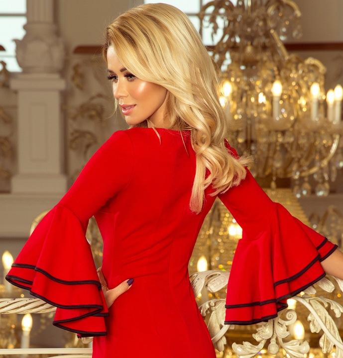MODNA Balowa Sukienka WIECZOROWA NA BAL 188-1 S 36 8559631885 Odzież Damska Sukienki wieczorowe DH DGFGDH-5