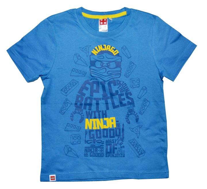 Bluzka LEGO Ninjago 116 T-shirt bluzeczka Ninja GO 9005279289 Dziecięce Odzież UV WLCWUV-2