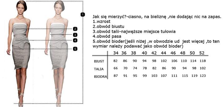 Camill 165 czarna rozkloszowna sukienka 48 8918534170 Odzież Damska Sukienki wieczorowe JA AJMKJA-6